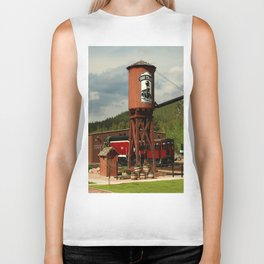Water Tower Of The Black Hills Central Railroad Biker Tank