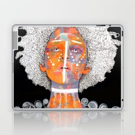 African Queen with white Eyes and awesome Afro Laptop & iPad Skin