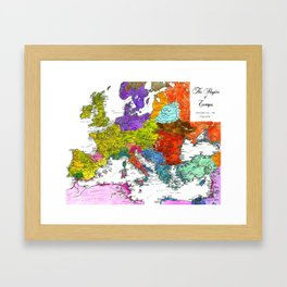 The Peoples of Europe According to Ptolemy Framed Art Print