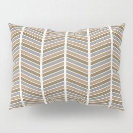 Chevron Pattern - Neutral Brown and Grey Pillow Sham