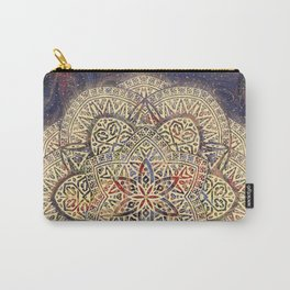 Gold Morocco Lace Mandala Carry-All Pouch