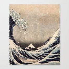 Hokusai the wave 1-hokusai,manga,fugi,japan,kanagawa,wave,edo,mount fuji Canvas Print