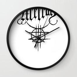 ZED MERCURY: PSYCHOPOMP LOGO - White Wall Clock