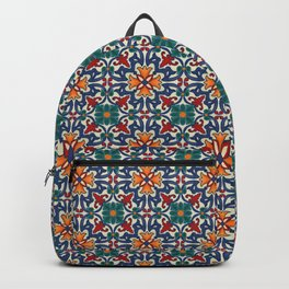 Colorful Azulejos Pattern Backpack