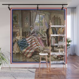 Edward percy moran: the birth of old glory Or Betsy Ross and Washington Wall Mural