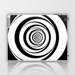 Black White Circles Optical Illusion Laptop & iPad Skin
