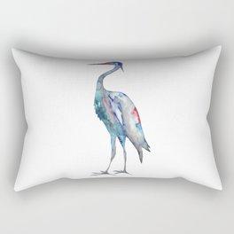 Crane #1 - Ink painting Rectangular Pillow