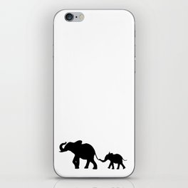 Elephants - Silouette iPhone Skin