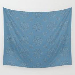 3D Pattern Dark Stone - Pointilism Pattern Wall Tapestry