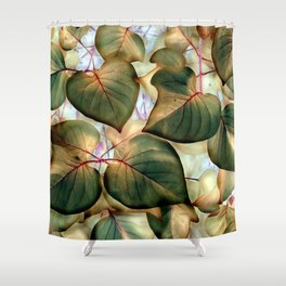 Red Bud Leaves - IA Fall Shower Curtain
