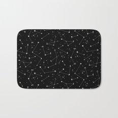 Constellations (Black) Bath Mat