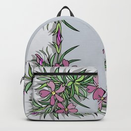 Abstract flowers frame Backpack