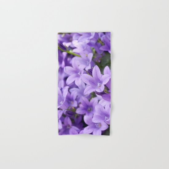 DREAMY - Purple flowers - Bellflower in the sun #1 Hand & Bath Towel