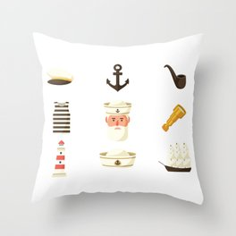 Seaman Essentials National Maritime Day Throw Pillow
