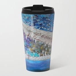 Albino Crocodile Metal Travel Mug