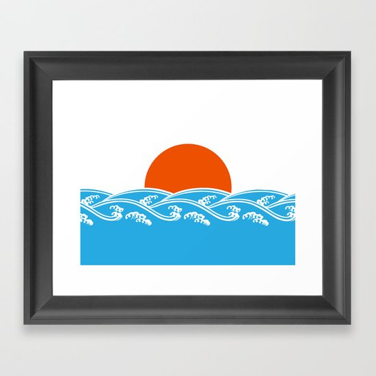 Japanese Tsunami  Framed Art Print