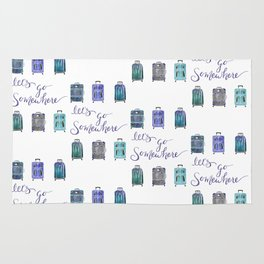 Let's Go Somewhere - Blue Rug