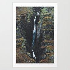 Cracks in the Earth Art Print