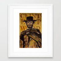 clint eastwood Framed Art Prints featuring Clint Eastwood by Olga Ko