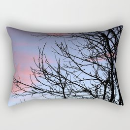 Skyscapes Pink Skies Silhouette Rectangular Pillow