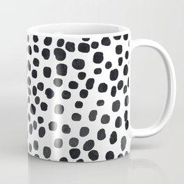 Preppy Black Polka Dots Coffee Mug