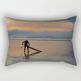 Lone Surfer Rectangular Pillow