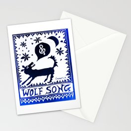 Wolf Song Rev Blue Stationery Cards
