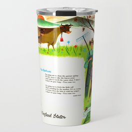 The Pasture, by Robert Frost Travel Mug