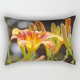 Lilies in the Sunshine Rectangular Pillow