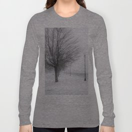 Charlotte Beach, Rochester, NY....in winter Long Sleeve T-shirt