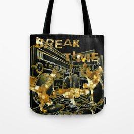 Break Time (black and gold vers.) Tote Bag
