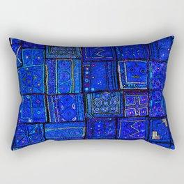 -A2- Lovely Calm Blue Traditional Moroccan Pattern Artwork. Rectangular Pillow