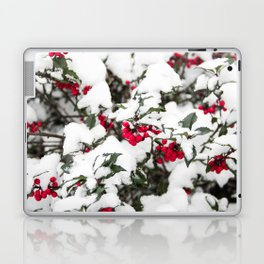SNOW COVERED HOLLY Laptop & iPad Skin