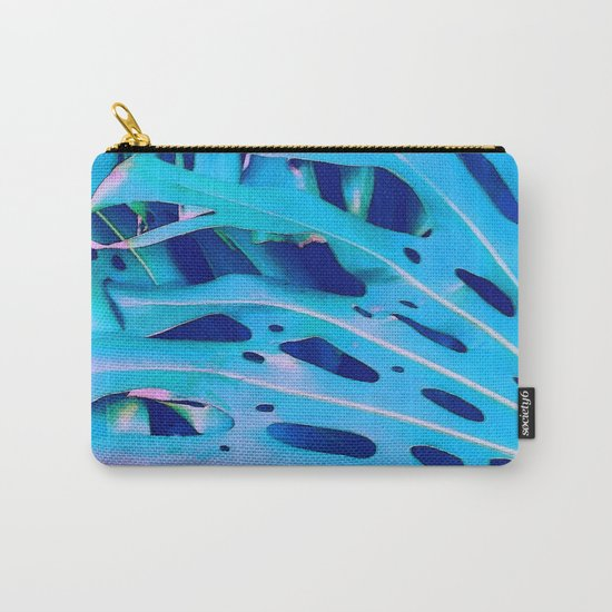 Monstera Blue Carry-All Pouch