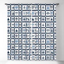 Quilt Squares Air Force Aircraft Blackout Curtain