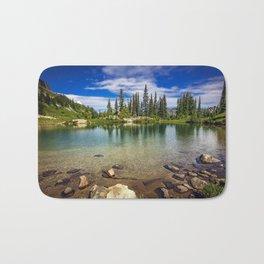 Mountain Lake in the Mt Rainier National Park Bath Mat