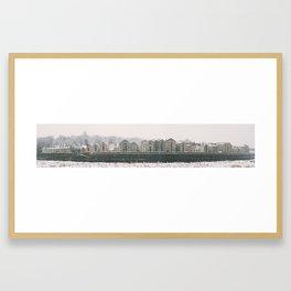 Winter Snow St. Georges Quay, Lancaster Framed Art Print
