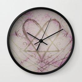 Heartagram Wall Clock
