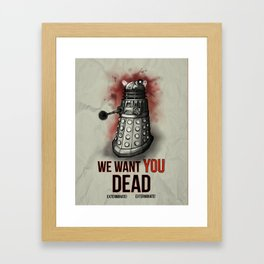 We Want You (No Border) Framed Art Print