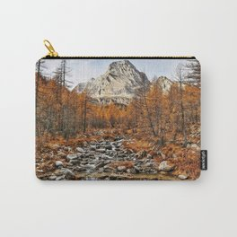 autumn mountain landscape yellow woods mountains mountain river Carry-All Pouch
