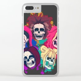Spice Skulls Clear iPhone Case