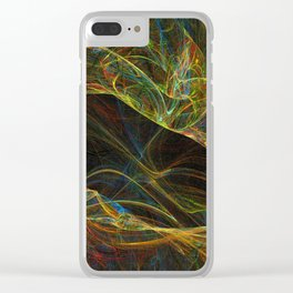 Fractal all over the place Clear iPhone Case