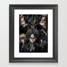 Attack of the Evil Giants Framed Art Print