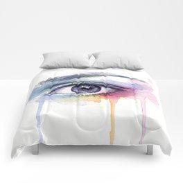 Colorful Eye Dripping Rainbow Comforters