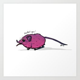 I Love (Elephant) Shrew Art Print