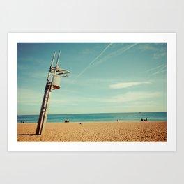 Barcelona: Barceloneta Beach Art Print