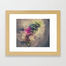 When i Dream of Chameleon Framed Art Print