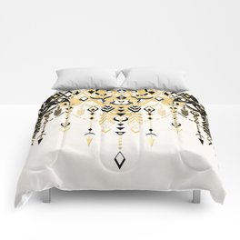 Modern Deco in Black and Cream Comforters