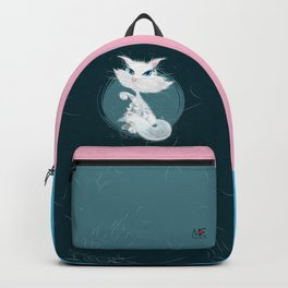 Catarday Night - white cat Backpack