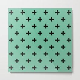 Lucite Green Criss Cross Metal Print